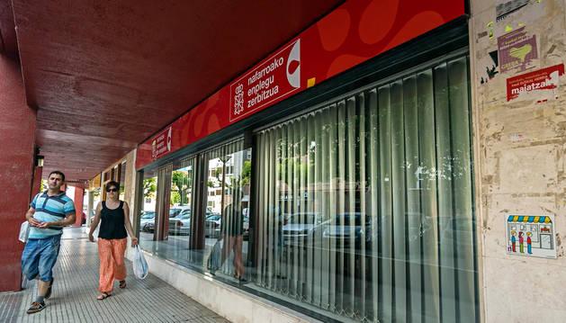 Imagen de una oficina de empleo en Estella.