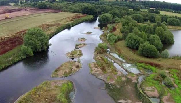 El río Trent, en las wetlands británicas.