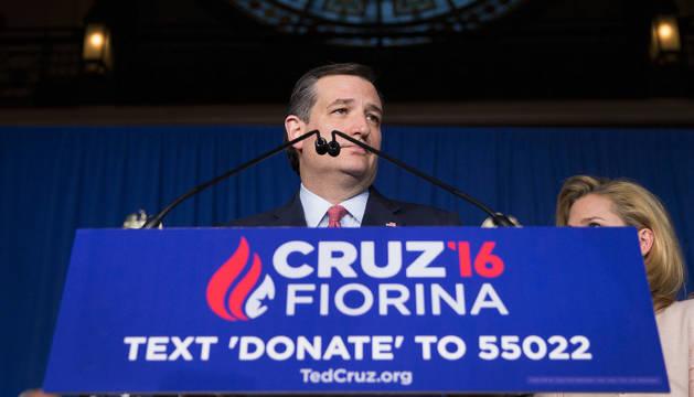 Ted Cruz abandona su carrera a la presidencia de EE UU tras los resultados en Indiana.