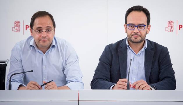 César Luena y Antonio Hernando.