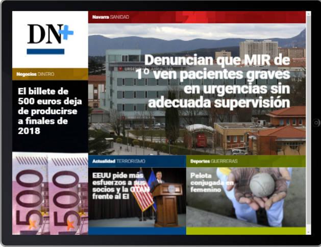 Mujeres pelotaris y billetes de 500 euros, en la portada de DN+ Tablet