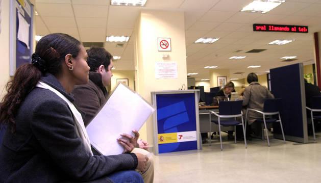 Oficina de la Seguridad Social en Pamplona.