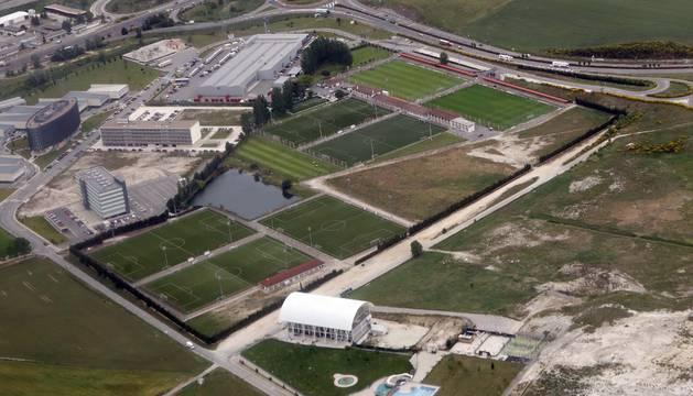 Una vista aérea de las instalaciones de Tajonar, propiedad del Gobierno de Navarra tras la dación en pago.
