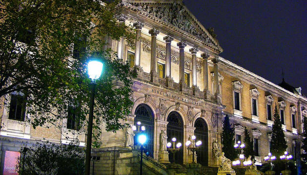 Fachada de la Biblioteca Nacional en Madrid.
