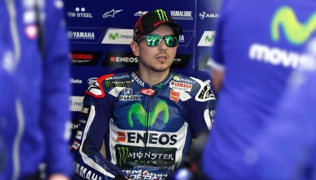 El piloto español de Moto GP Jorge Lorenzo.