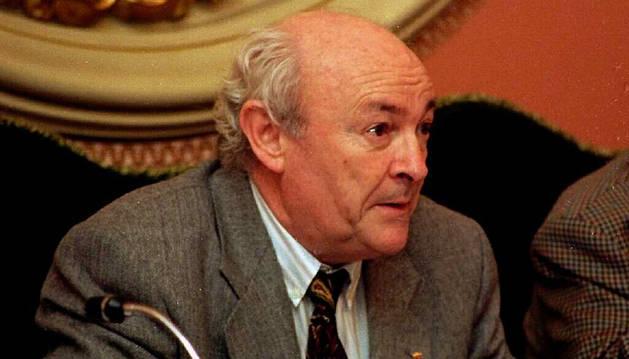 Imagen de Tomás Caballero, en su etapa de portavoz del grupo municipal de UPN en el Ayuntamiento de Pamplona.