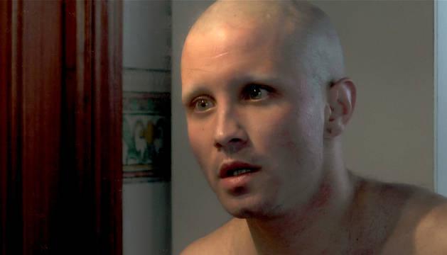 Abel Azcona durante el rodaje de la película.