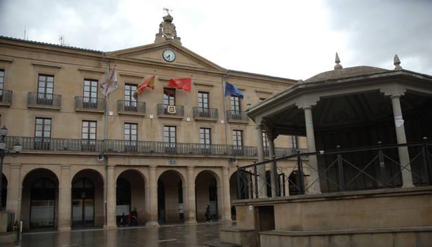 Fachada del Ayuntamiento de Tafalla.