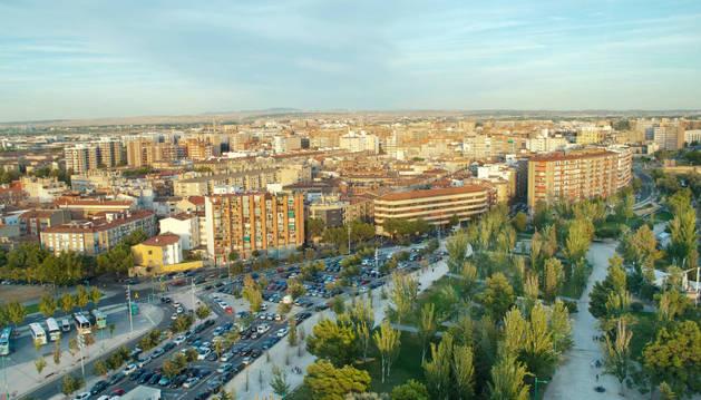 Imagen aérea de Zaragoza.