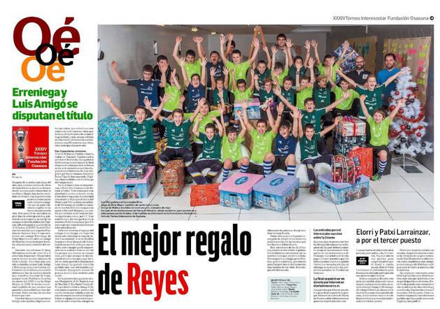 Reportaje premiado sobre el Torneo Interescolar de fútbol.