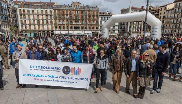 Inicio del 'Reto Solidario FND' el sábado 23 de abril, en la Plaza del Castillo de Pamplona.