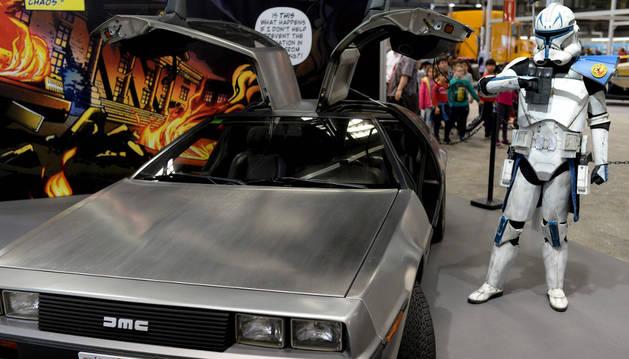 Un participante del Salón del Comic de Barcelona disfrazado de Star Wars.