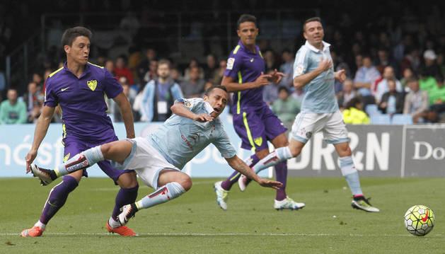 Orellana, durante una disputa contra el Málaga.