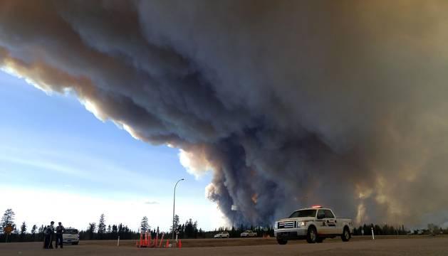 Incendio en Canadá.