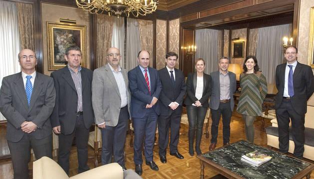 Antonio Martínez de Bujanda, Esteban Zeberio, Javier Baztarrika, Manu Ayerdi e Ignacio Ugalde