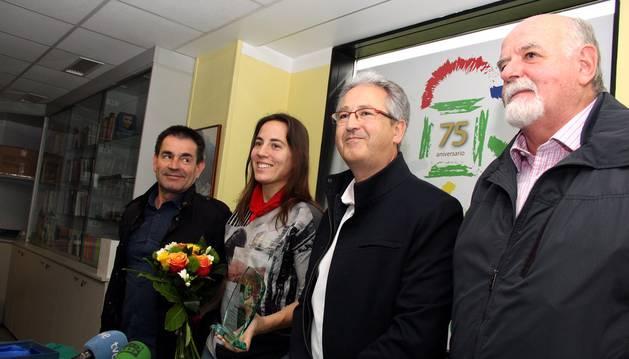 María Asurmendi, en el homenaje en Oberena.