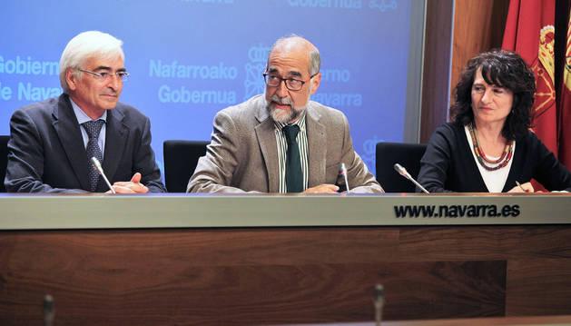 Óscar Moracho, Fernando Domínguez y Mª José Pérez (ISP).