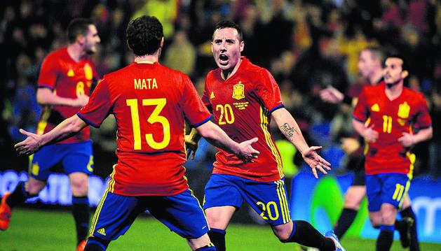 Amistoso de la Roja con la selección inglesa, el pasado noviembre en Alicante.