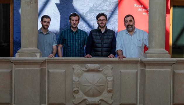 Iban Roldán, Sergio Escribano, Asier Urra y José Mª  Ocáriz.