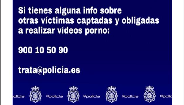 Piden colaboración para localizar víctimas obligadas a realizar vídeos pornográficos