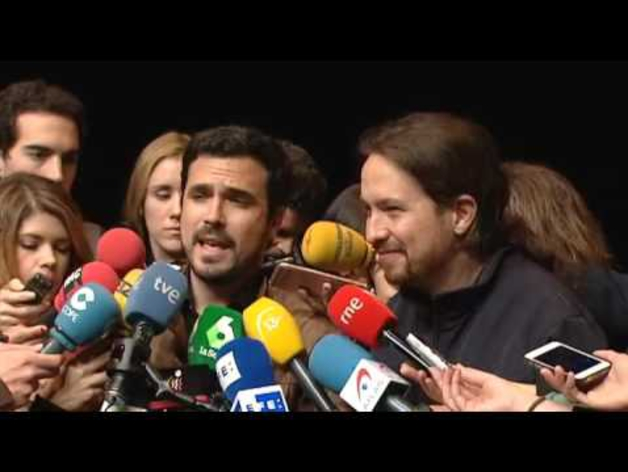 Iglesias y Garzón escenifican la alianza para ir juntos el 26J