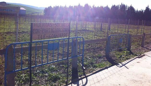 Expediente al promotor de huertas en Paternáin, sin permiso para hacerlas