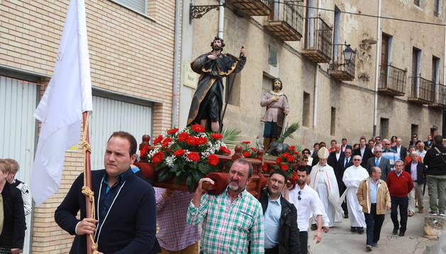 Procesión de San Isidro en Funes el año pasado.