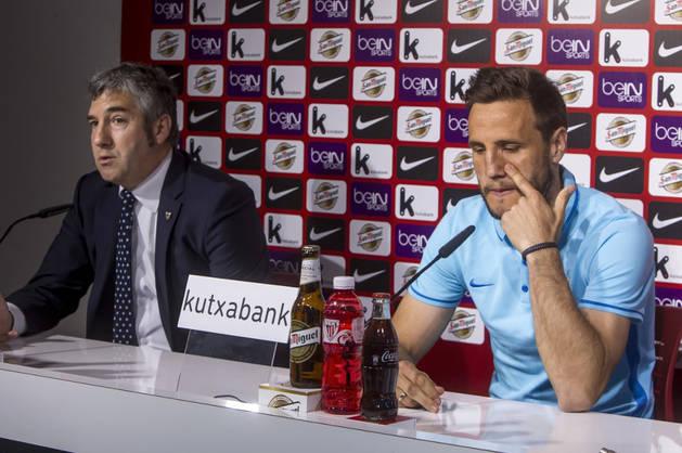 Carlos Gurpegui, en el anuncio de su retirada.