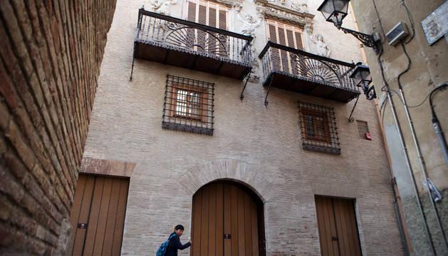 Fachada de la Casa del Almirante, en Tudela.