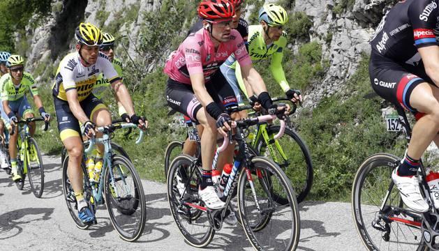 Tom Dumoulin, líder del Giro.