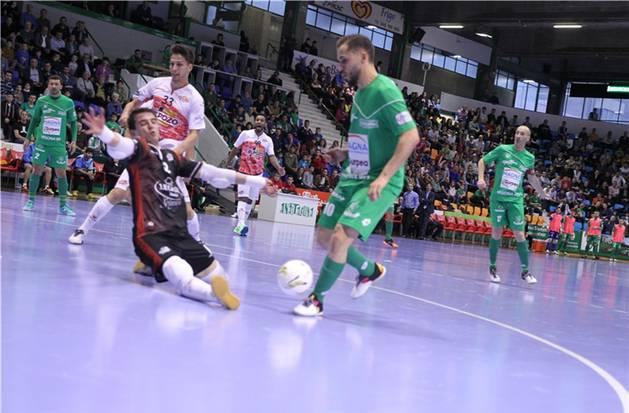 Rafa Usín, durante el partido contra ElPozo Murcia.