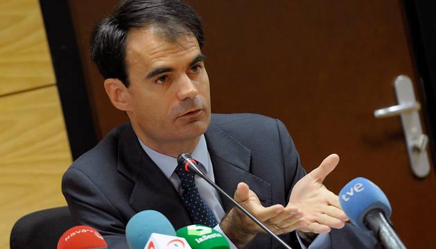 El juez Pablo Ruz, durante la conferencia que ha pronunciado en Pamplona.