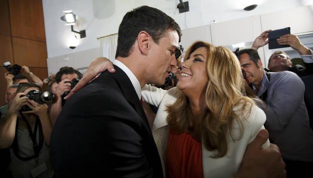 Pedro Sánchez y Susana Díaz,
