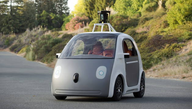 Un prototipo del vehículo autónomo de Google.