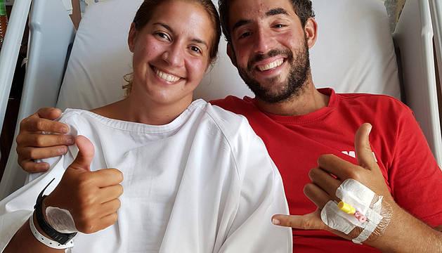 Marta Miguel y David Hernández, rescatados en Malasia.