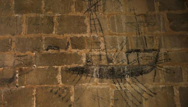Uno de los grafitos mejor conservados en San Zoilo.