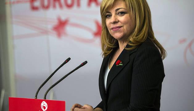Elena Valenciano, en un acto del PSOE en febrero de 2014.