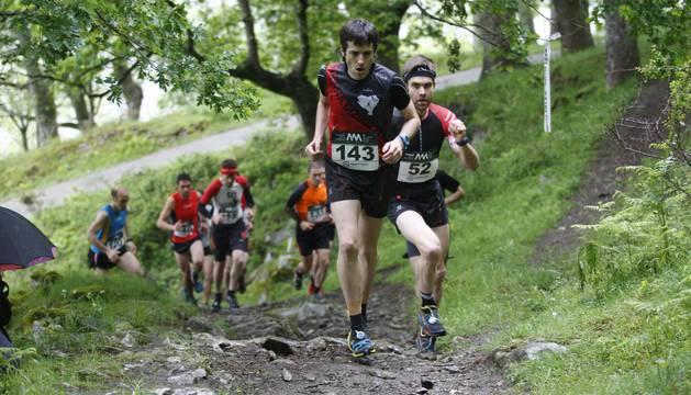Los participantes, al inicio de la carrera.
