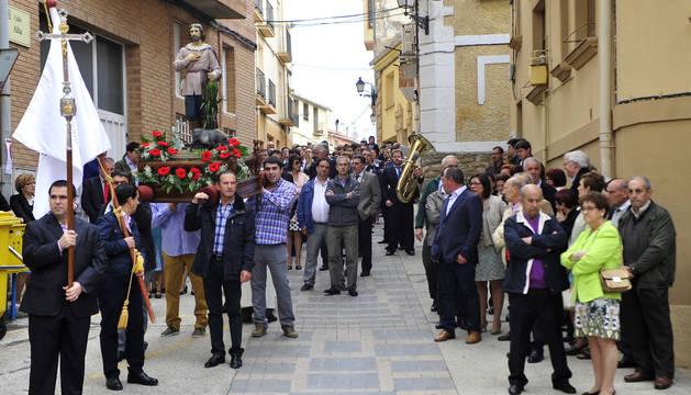 Funes pone fin a sus fiestas de San Isidro con una procesión