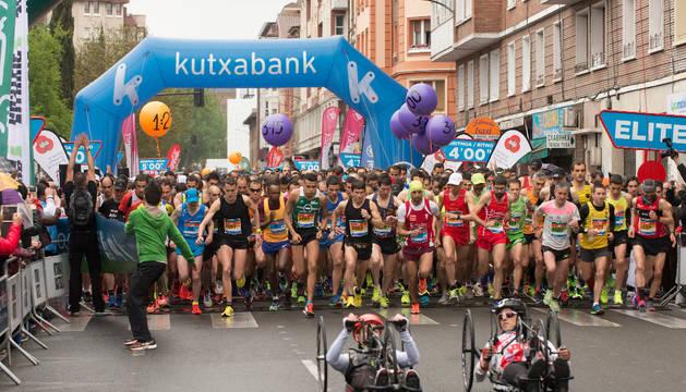 Salida del Maratón de Vitoria.