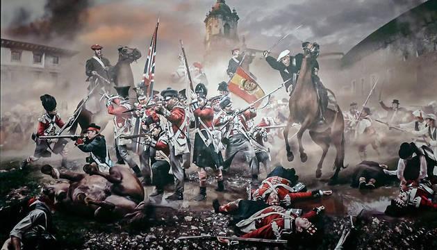 Reconstrucción de la batalla de Andoain, del 14 de septiembre 1837, de Jordi Bru.