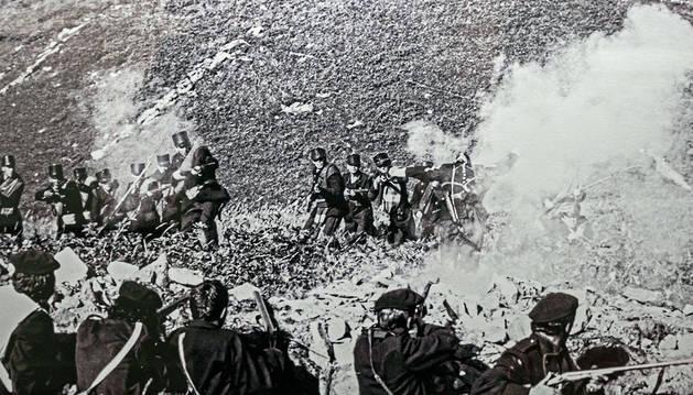 Batalla de Somorrostro, reconstruida en 1985 por José María Tuduri.