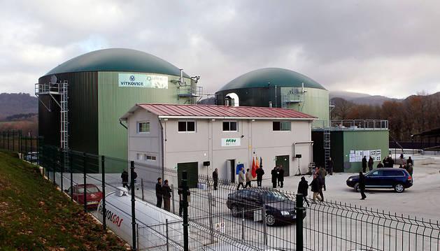 La imagen corresponde al día de la inauguración de la planta de biogás, el 14 de diciembre de 2010.