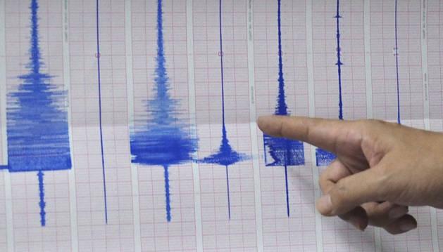 Gráfico de un terremoto de 5,8 grados en la escala Richter.