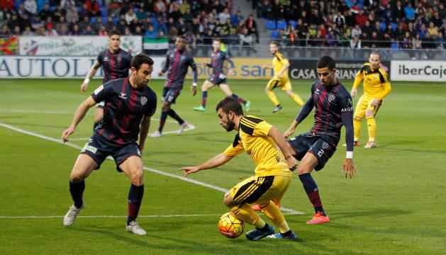 Imagen del Huesca-Osasuna de la primera vuelta.