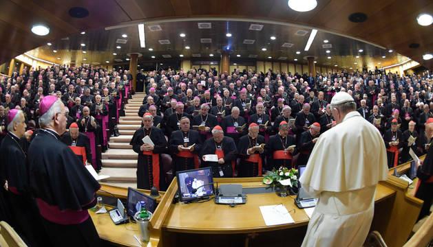 El Papa Francisco, en su discurso de apertura de los trabajos de la 69° asamblea plenaria de la CEI.