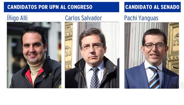 Alli y Salvador encabezan la lista de UPN-PP y Adanero queda fuera