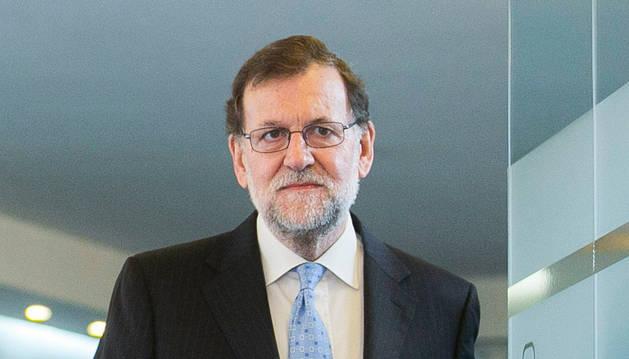 El líder del partido, Mariano Rajoy, antes de presidir la reunión del Comité de Dirección
