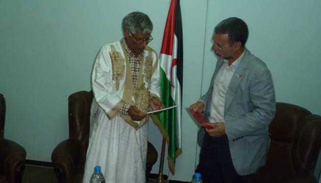 El Gobierno foral estudia un convenio estable con las autoridades saharauis