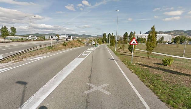 Un accidente sin heridos causa tráfico lento entre Olaz y Sariguren